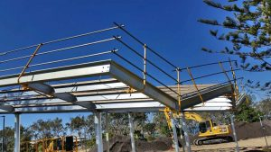 Roof Edge Rail for Industrial and Commermcial Construction